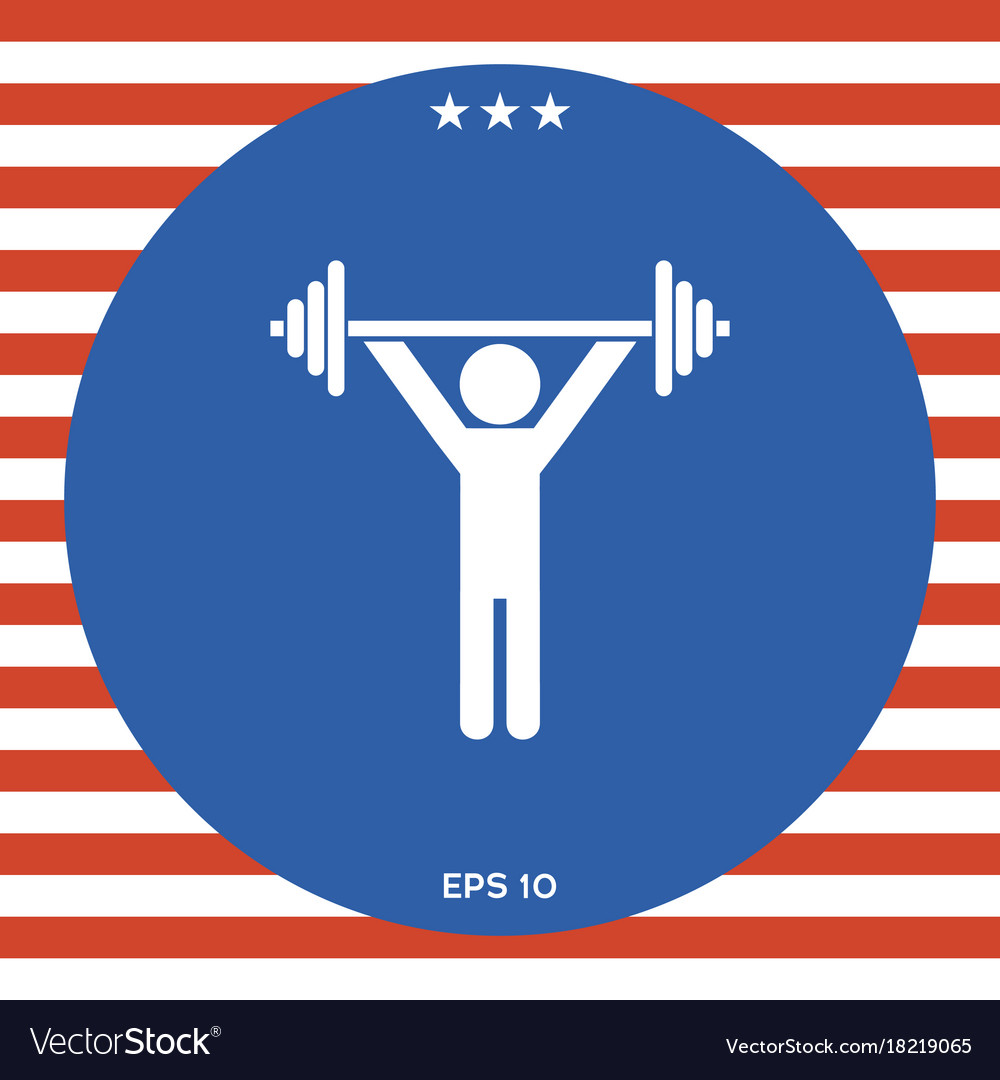 Weightlifting dumbbell training icon