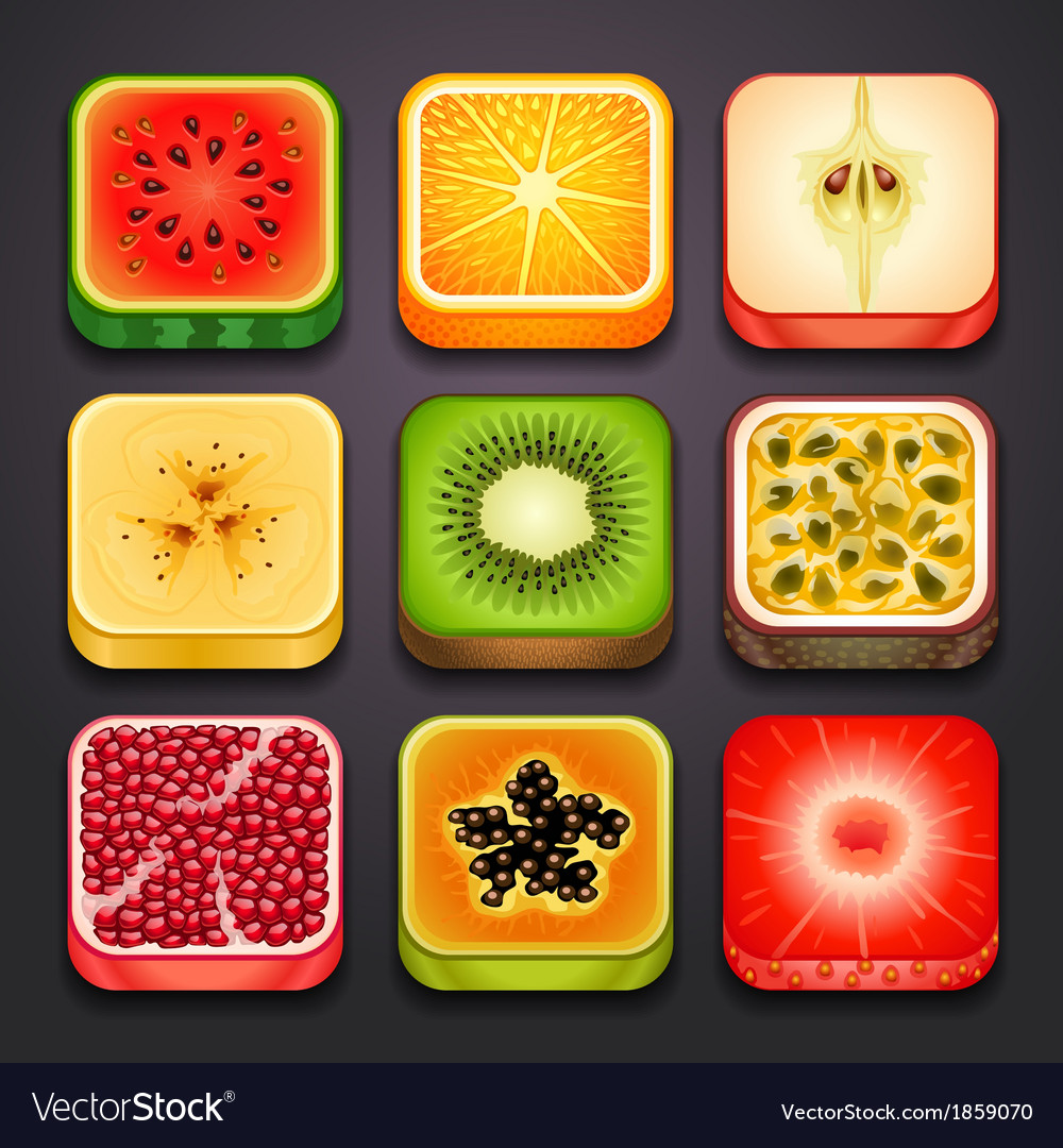 Background for the app icons-fruits part 2
