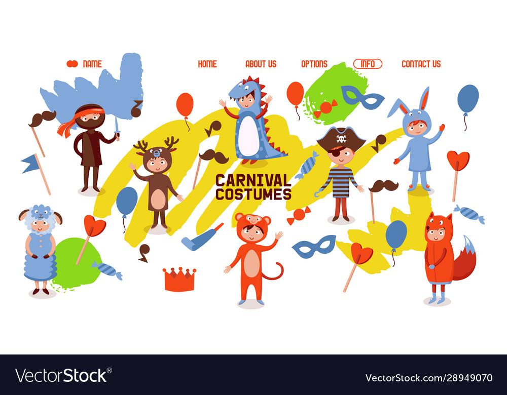 Carnival costumes for children kids clothing