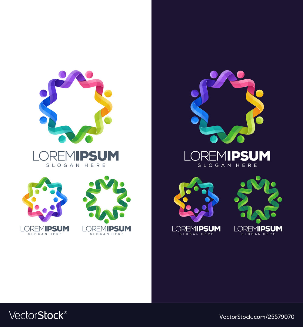 Circle colorful logo design