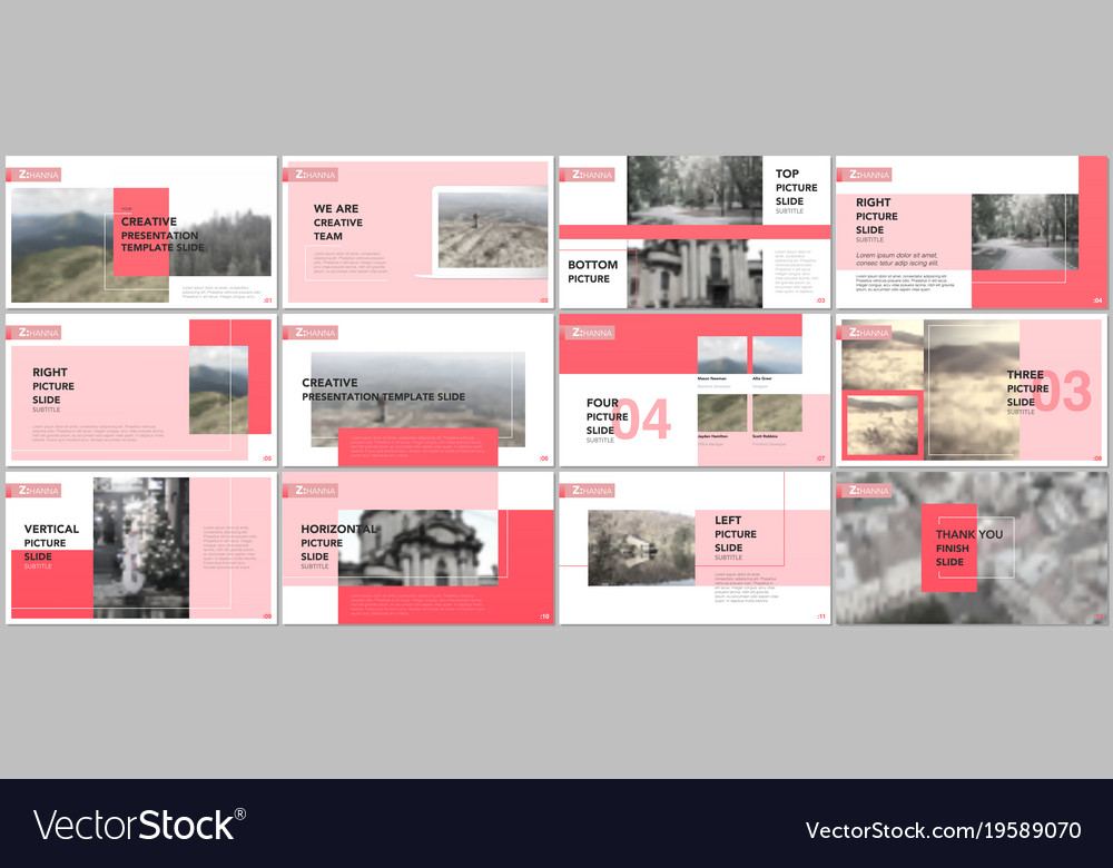 clean and minimal presentation templates vector image
