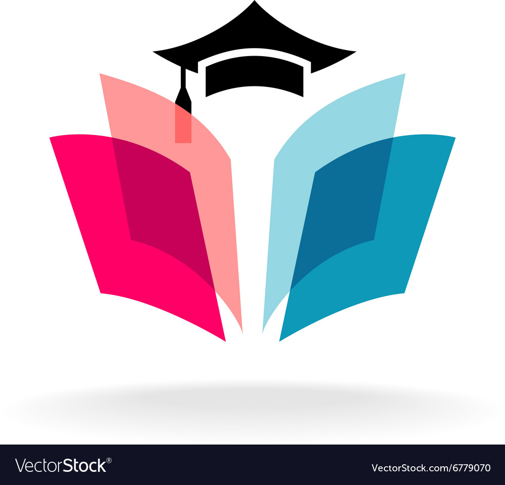 Education logo concept with graduation cap and
