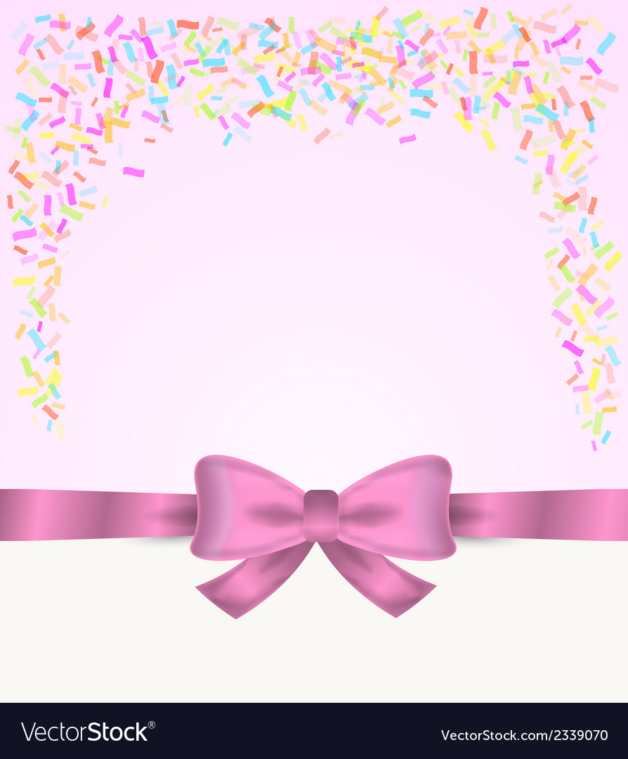 Gift card and confetti