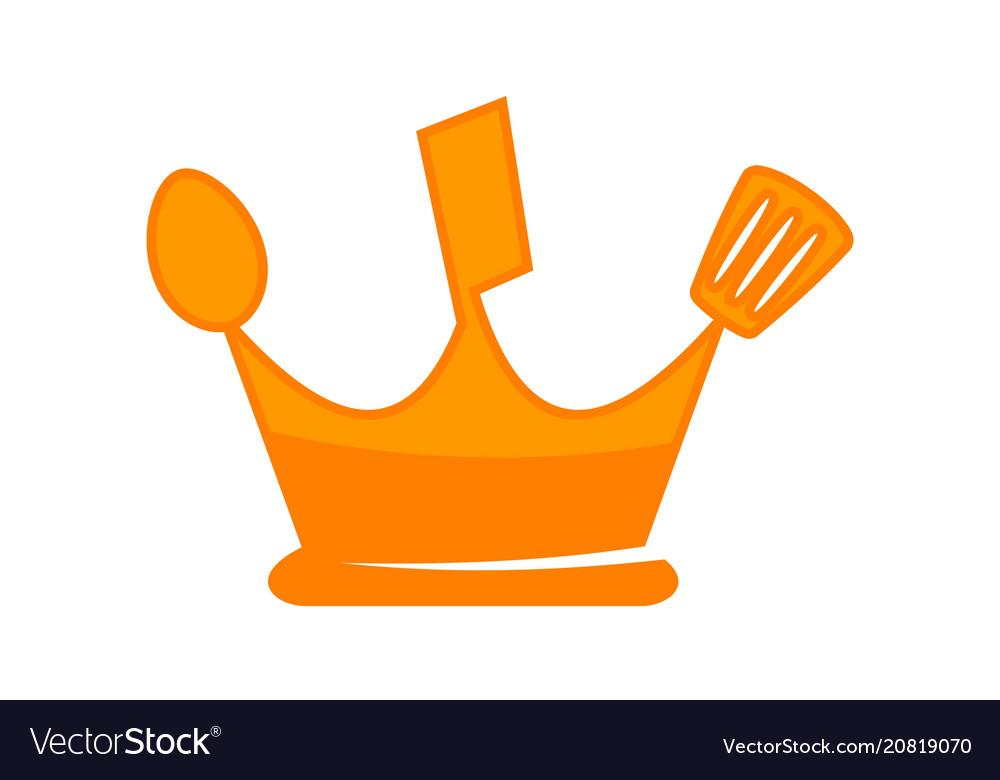 Kitchen king logo design template