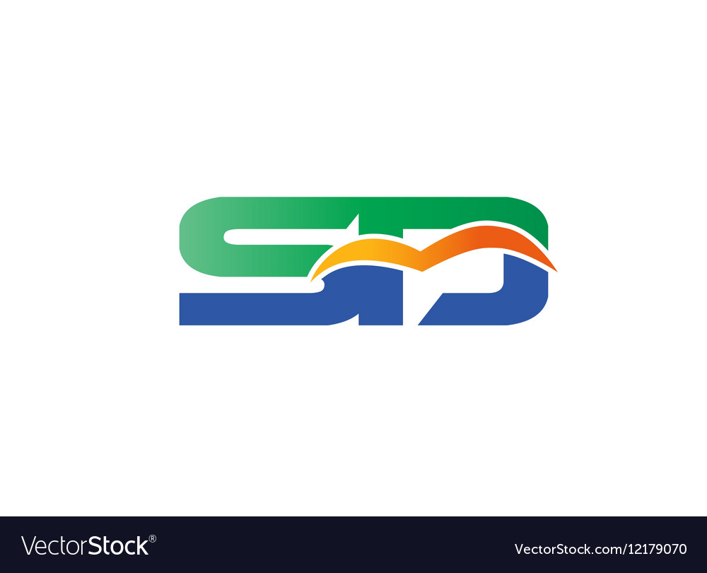 Letter S and D logo vector image