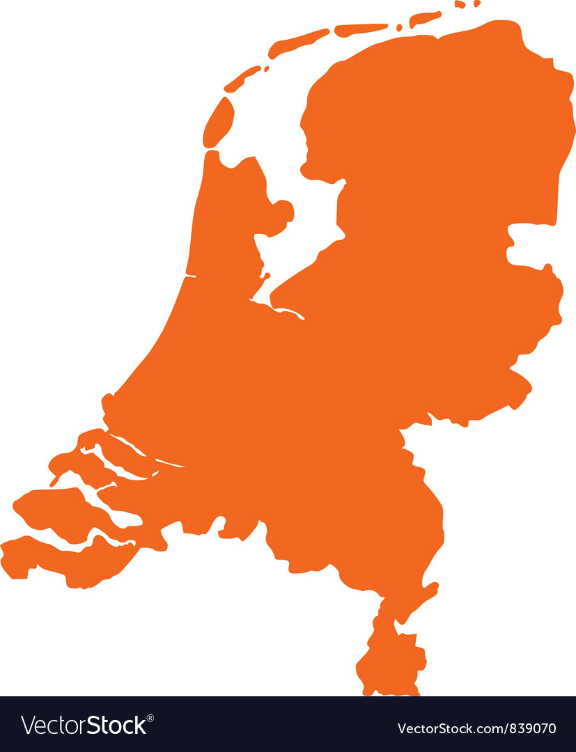 Map of the Netherlands Royalty Free Vector Image