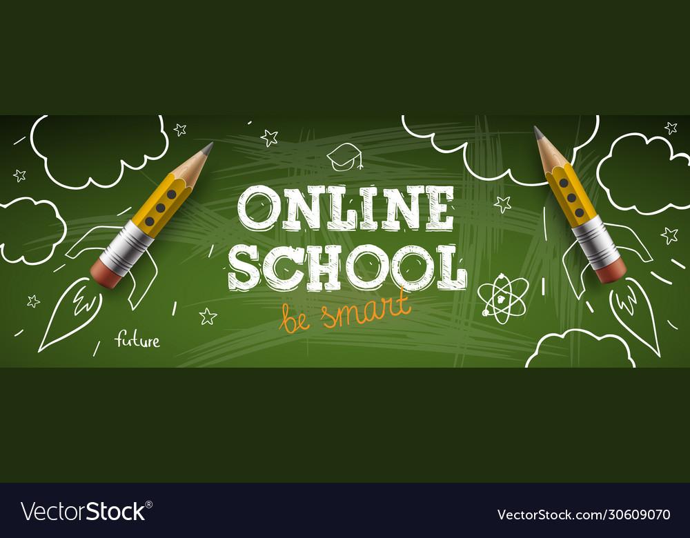 Online school digital internet tutorials and