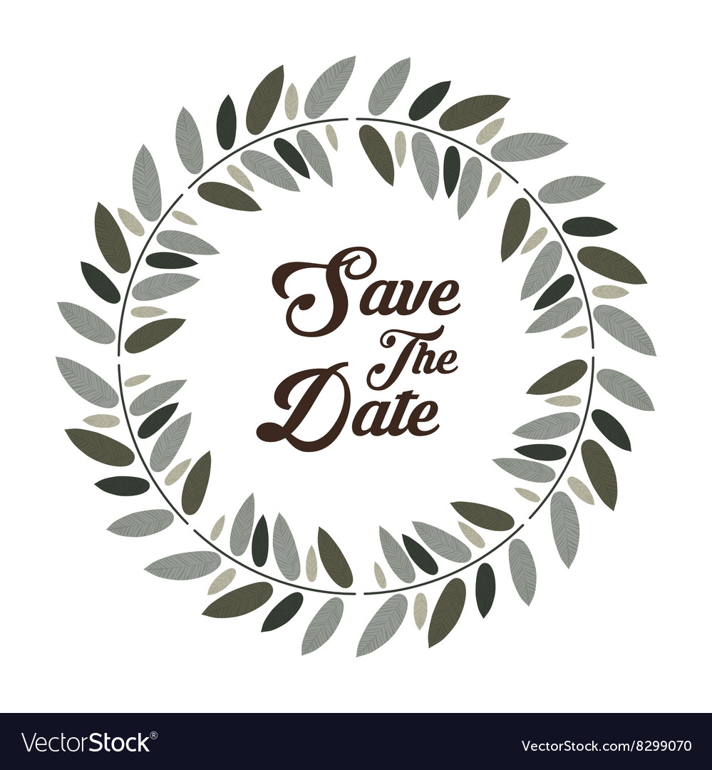 save the date graphic design royalty free vector image