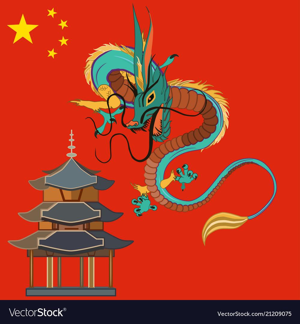 Chinese dragon flat