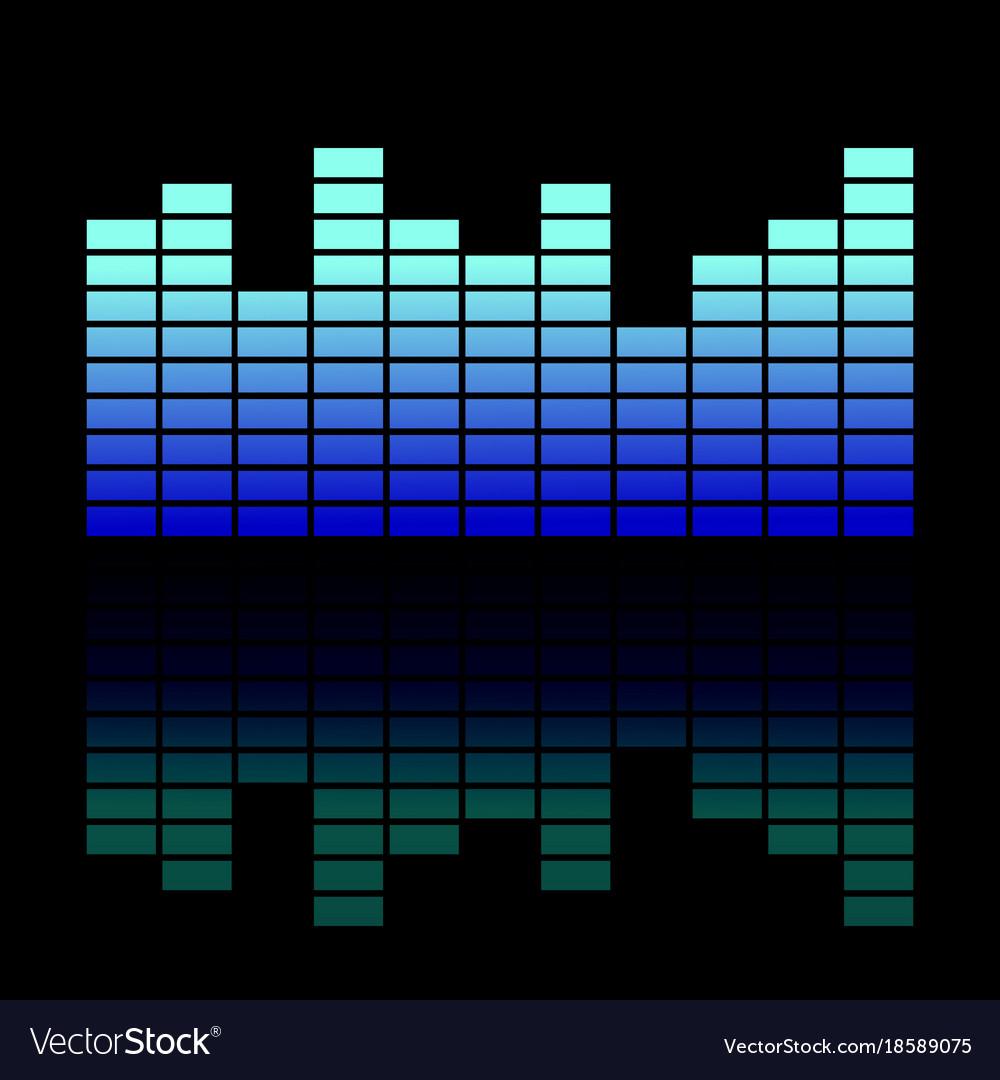 Colorful musical equalizer showing volume on black