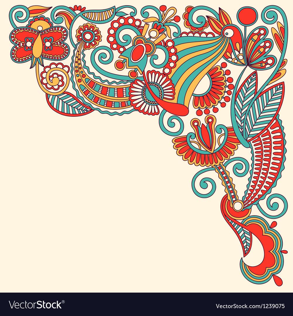 Original hand draw ornate floral background
