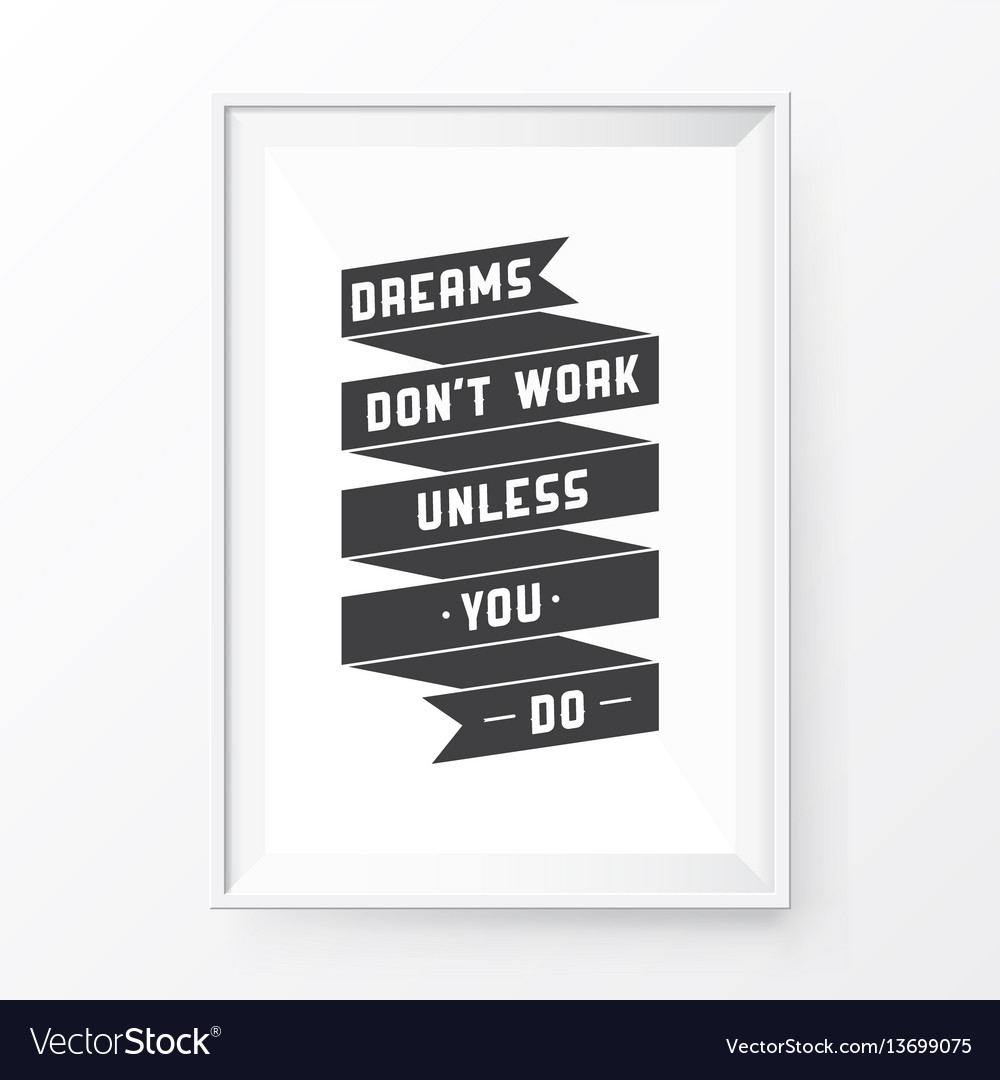 Quote poster frame vector image