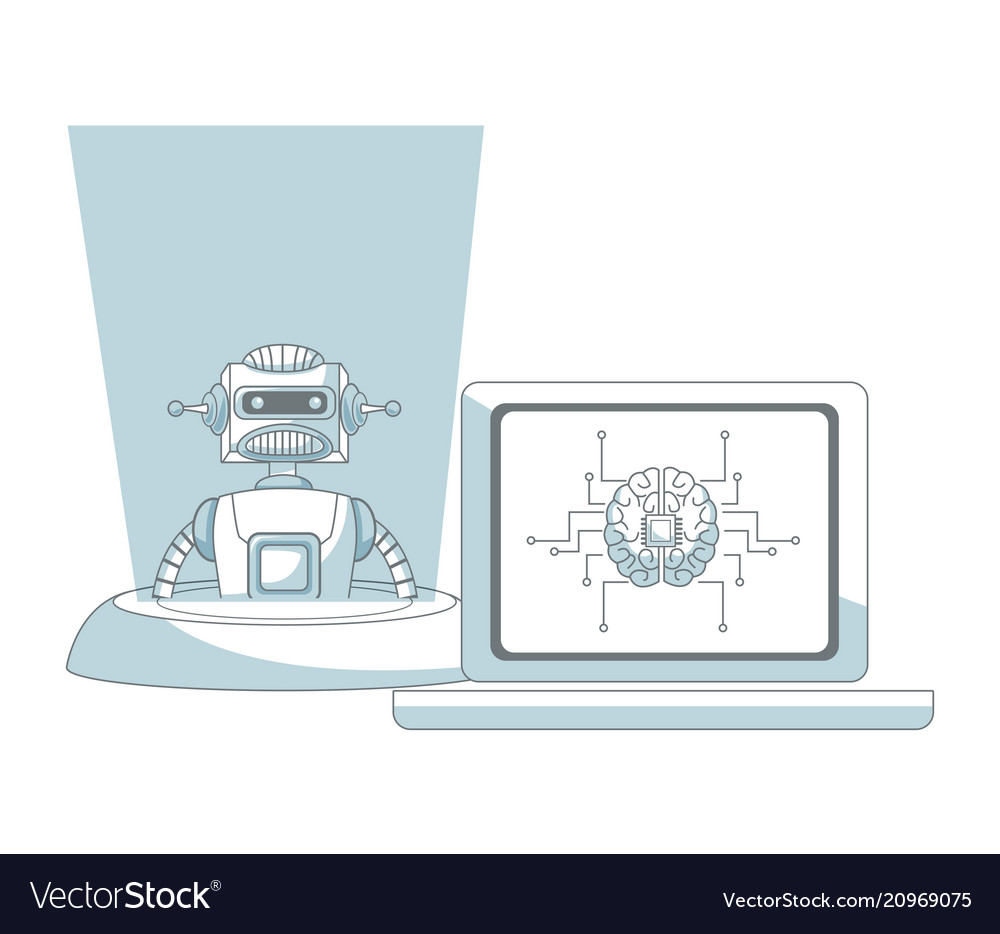 Robot Artificial Intelligence Royalty Free Vector Image