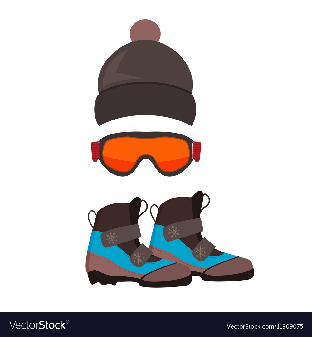 Ski gloves and skiing goggles