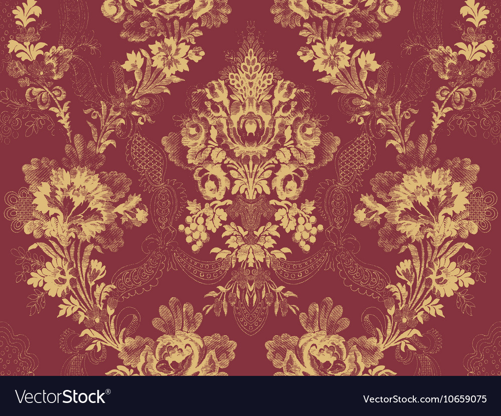 Victorian Floral Pattern Abstract Flower Rose Fash