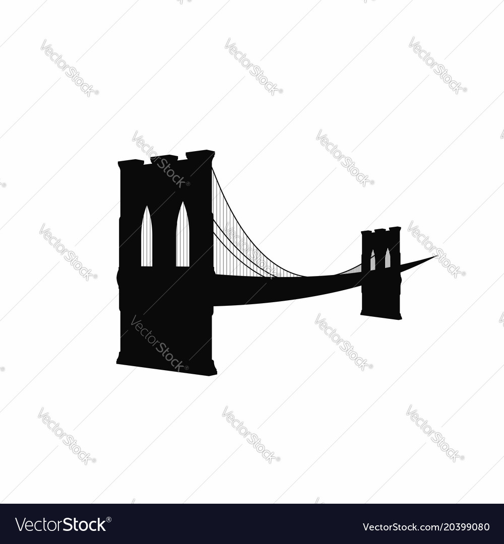 Brooklyn bridge silhouette black brooklyn bridge