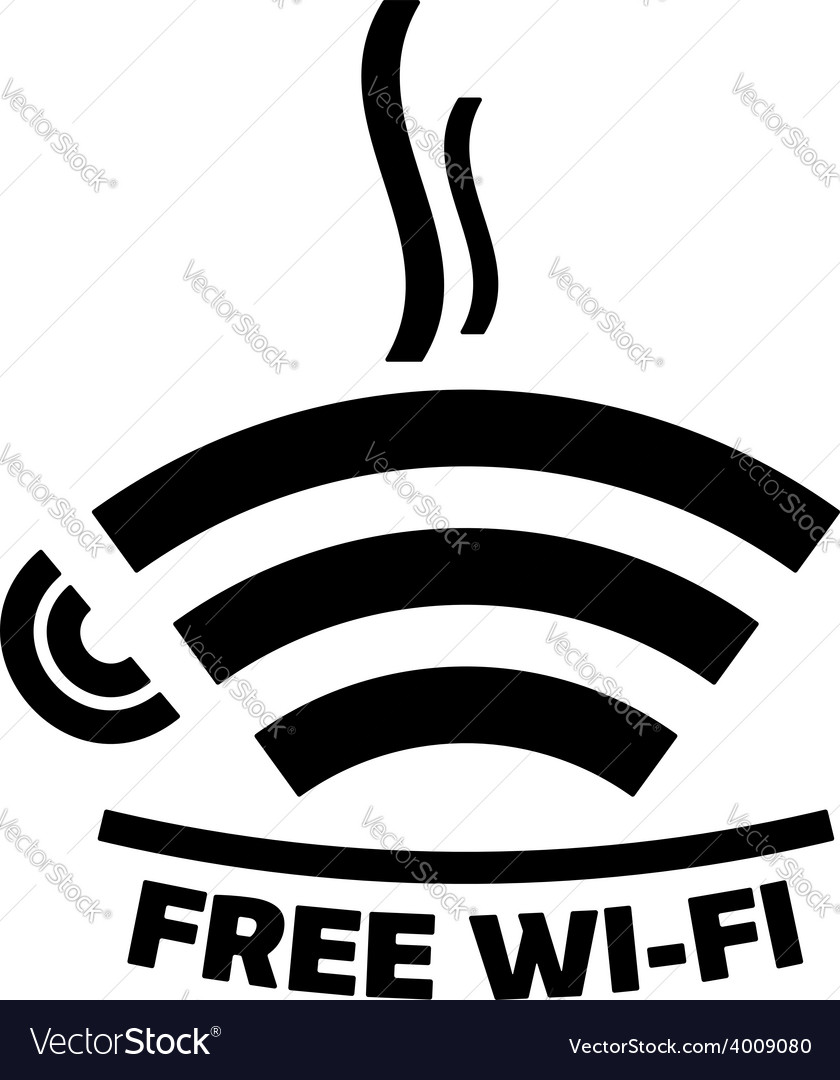 Free wi-fi cafe icon vector image