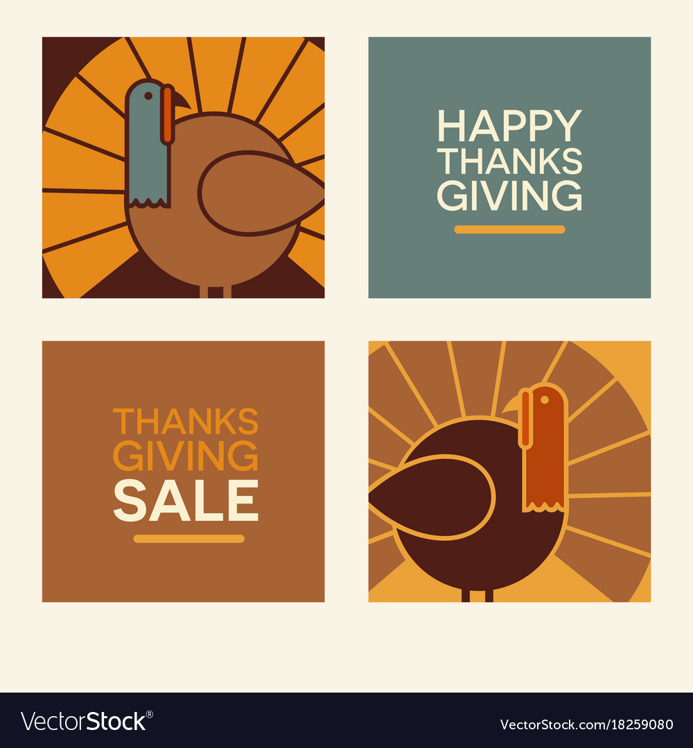 Happy thanksgiving design elements