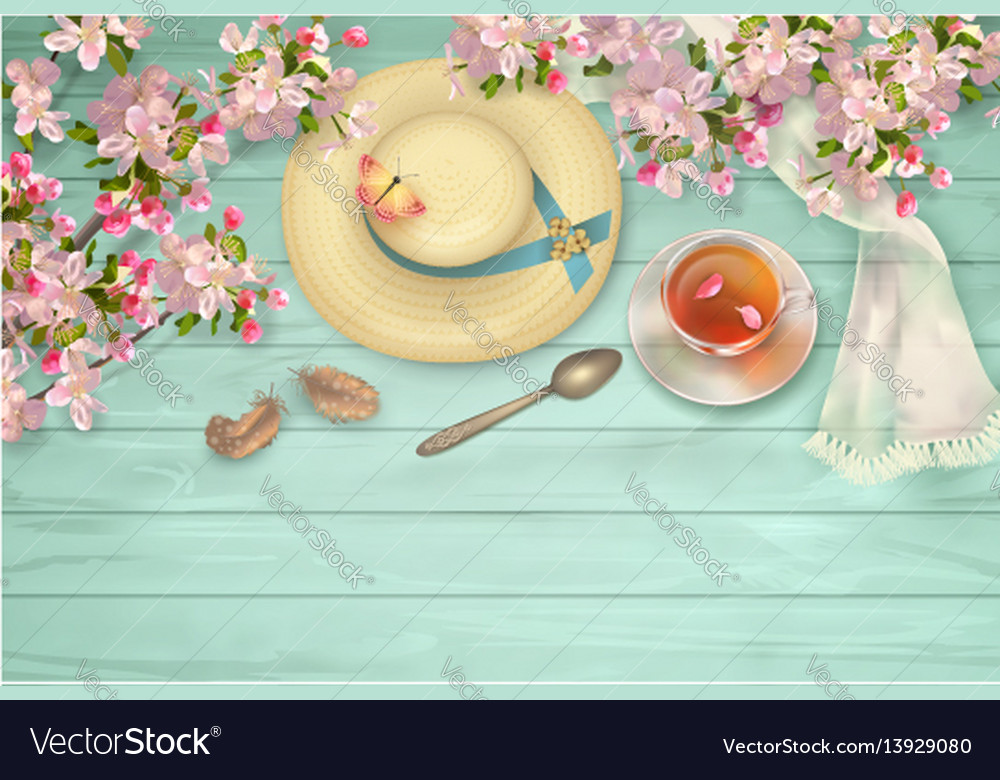 Top view background vector image