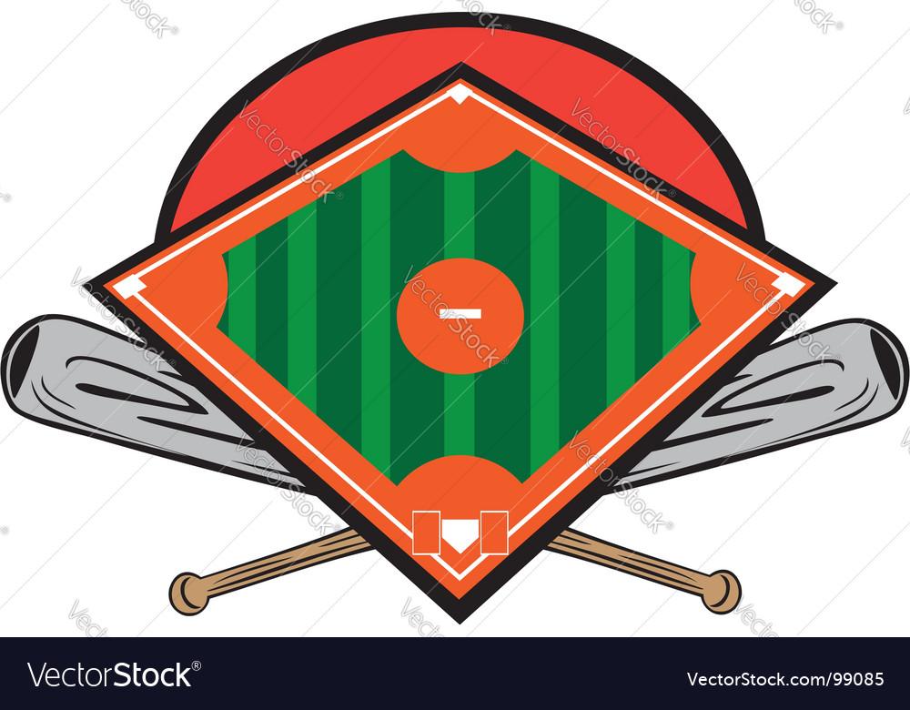 Ball field design vector image