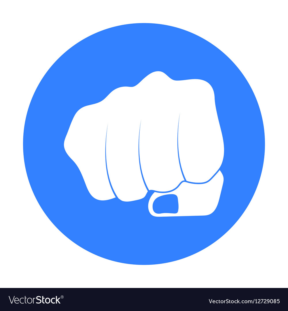 Fist bump icon in black style isolated on white vector image m4hsunfo