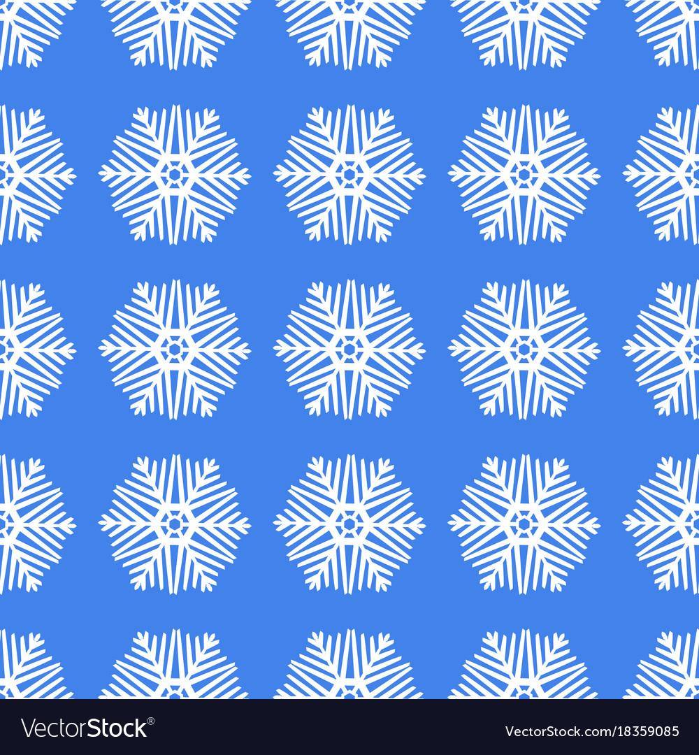 Seamless white christmas snowflakes
