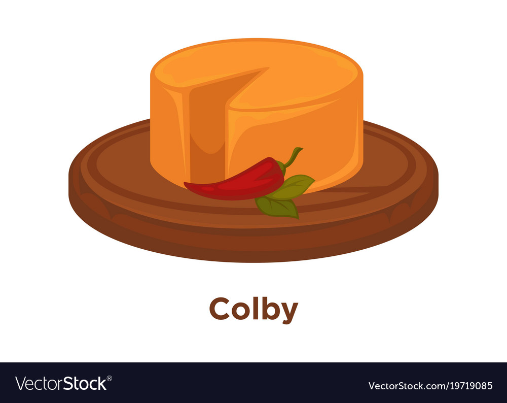 Spicy head of colby cheese with hot chilli pepper