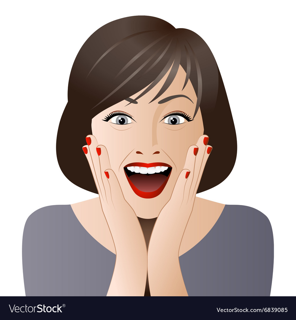 Surprised woman face for sale Royalty Free Vector Image 5f62934135bc