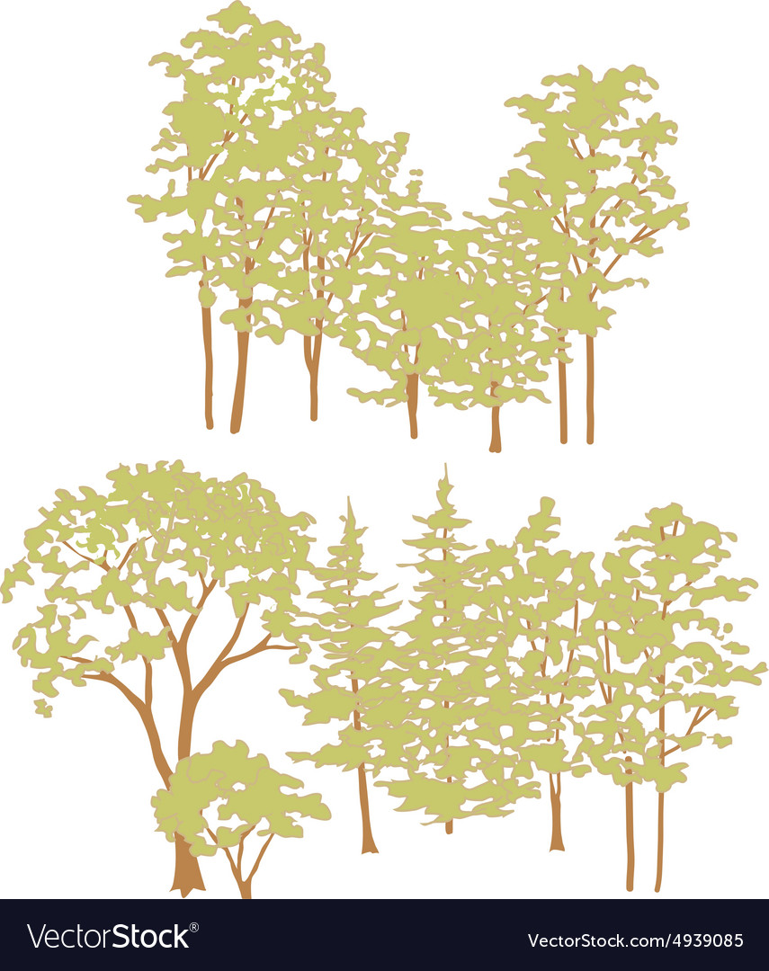 Trees002 vector image