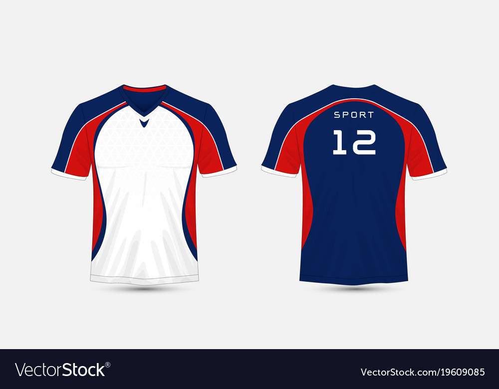 White Blue And Red Stripe Pattern Sport Football Vector Image