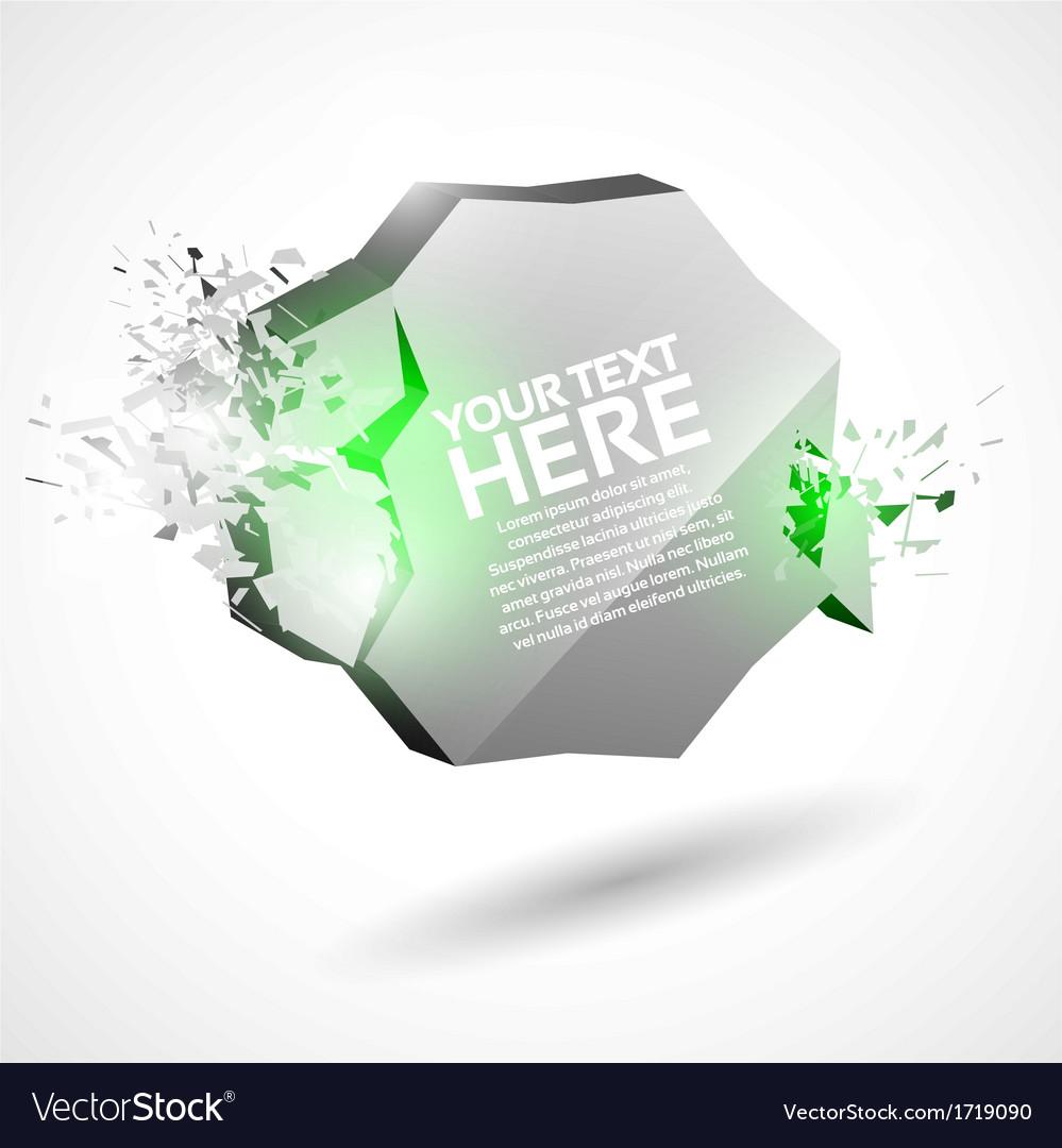 3D Shiny Explosion Speech Template