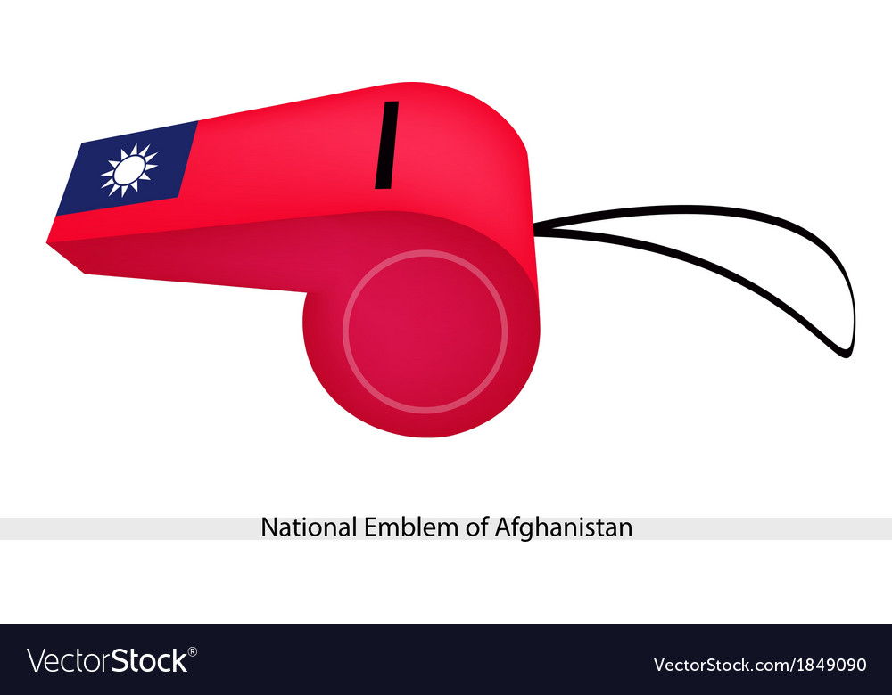 A Whistle of National Emblem of Afghanistan vector image