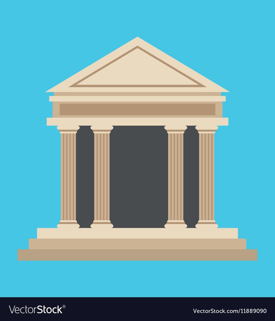 Bank building money symbol icon