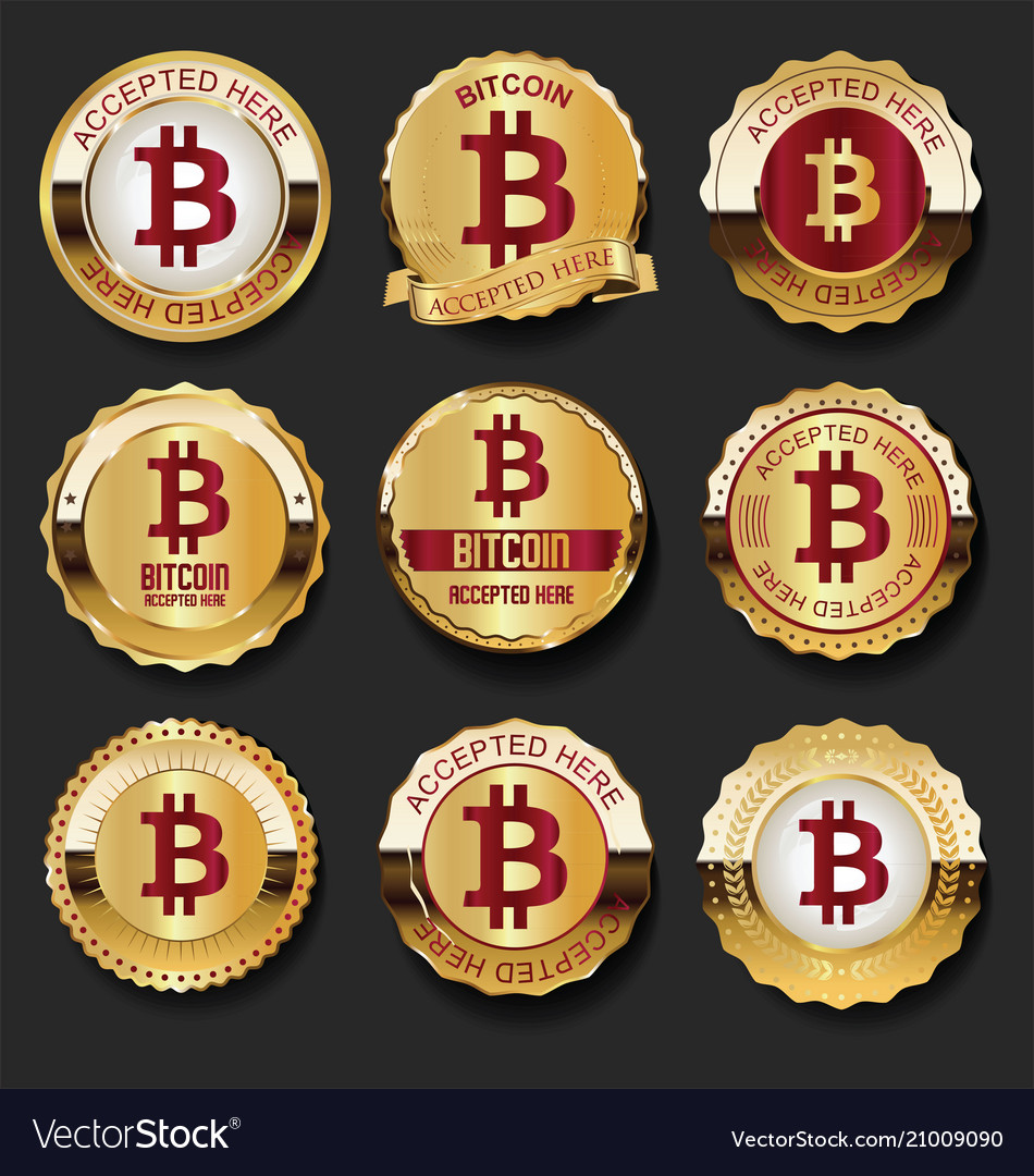Bitcoin accepted here golden labels