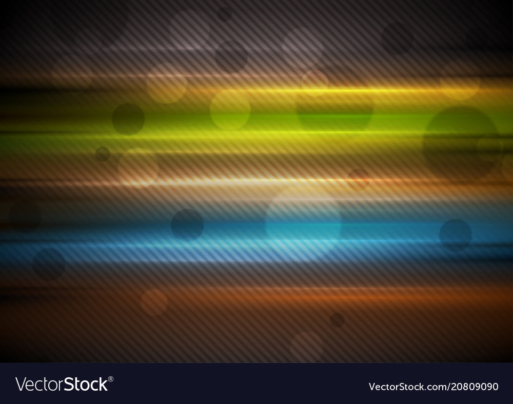 Colorful glowing stripes abstract background vector image