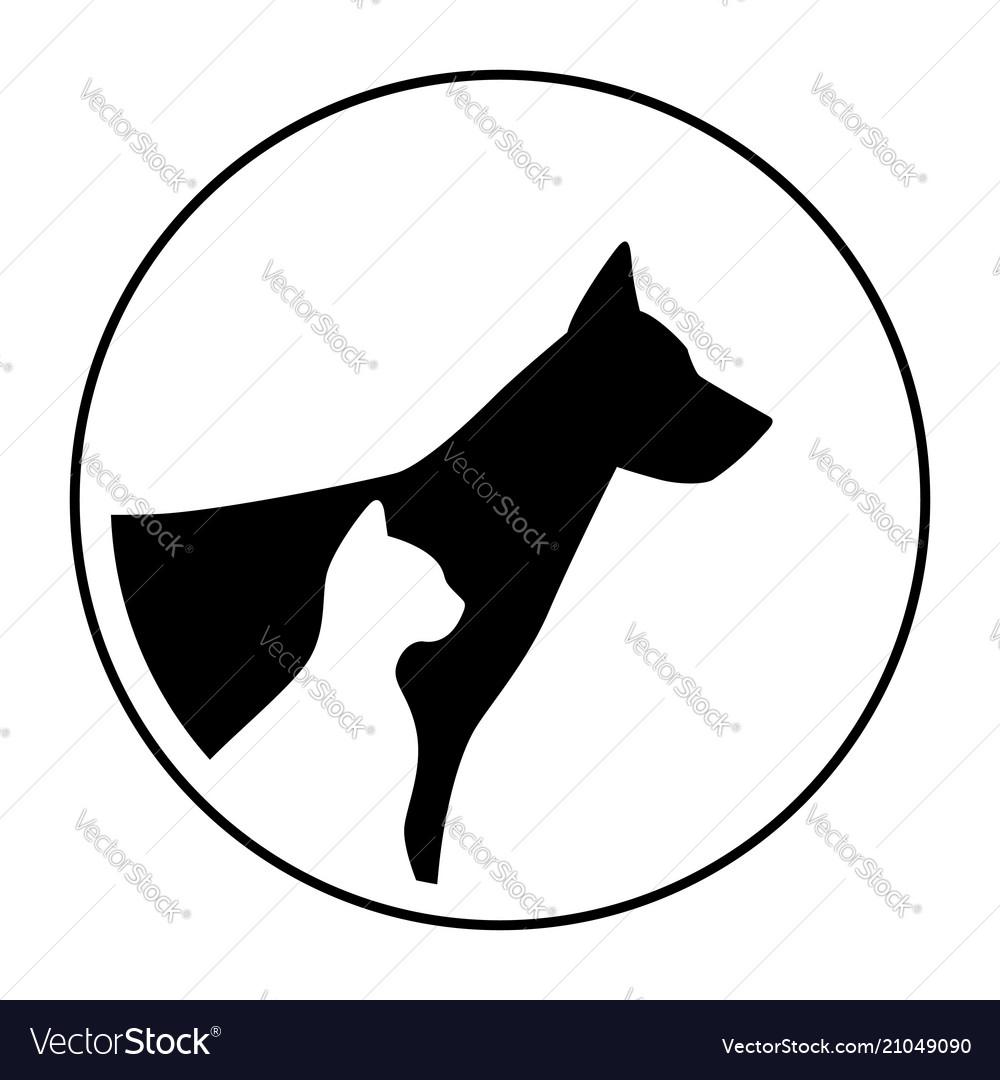 Logo sign pet dog cat animals portrait head