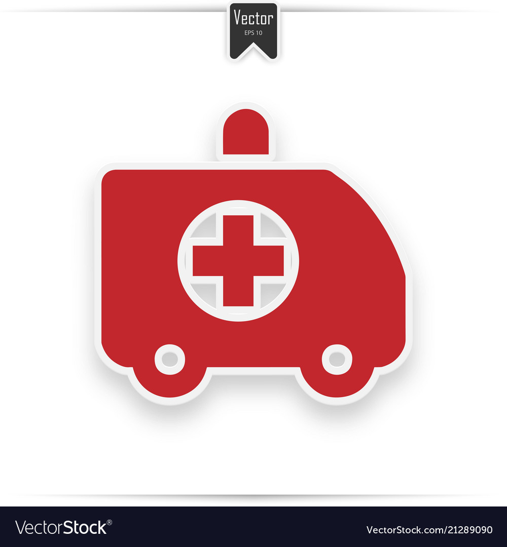 Red icon shows an ambulance