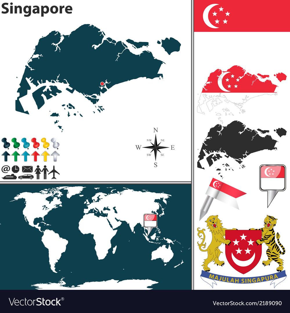 Singapore map world