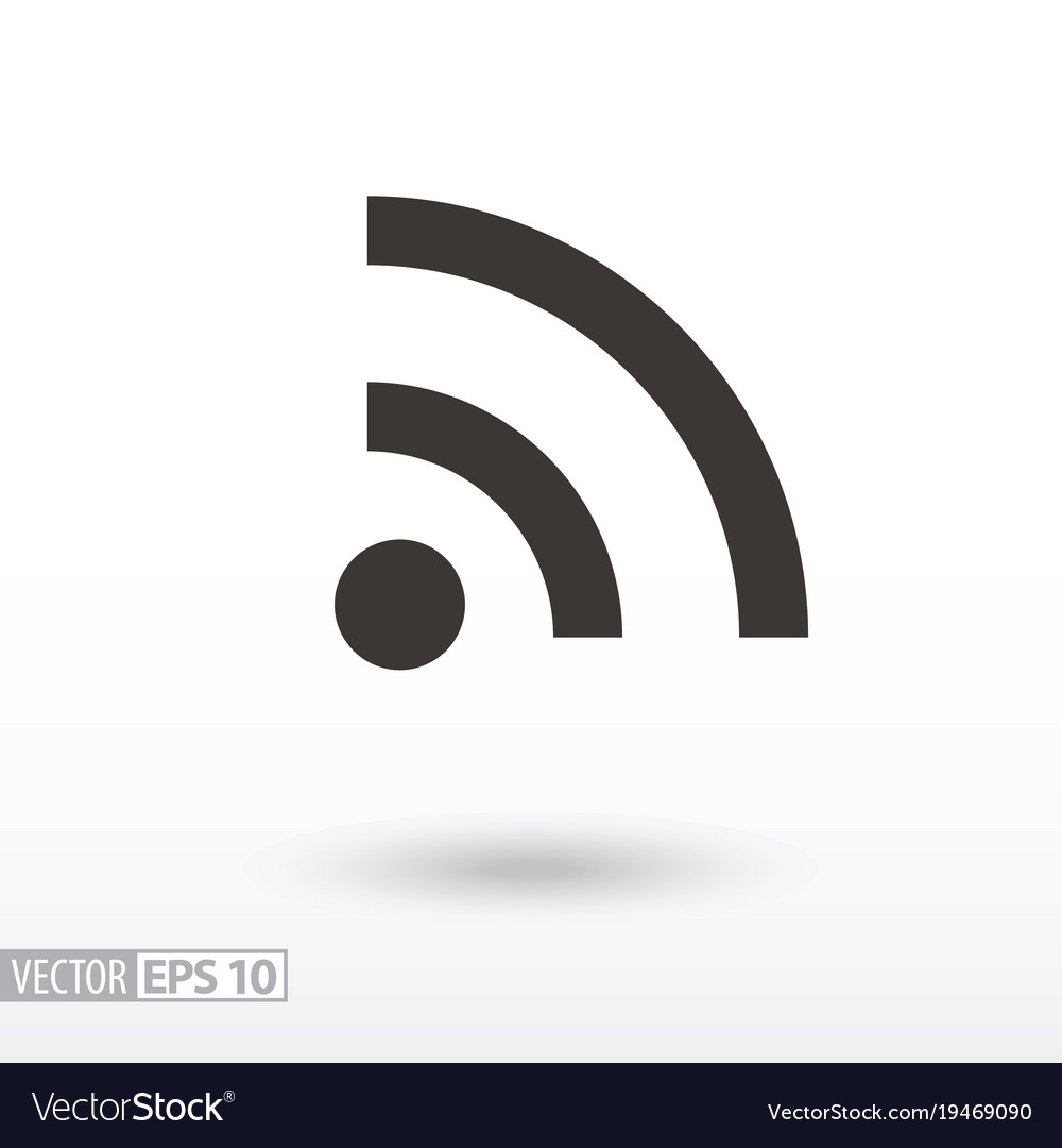 Wifi flat icon sign internet connection