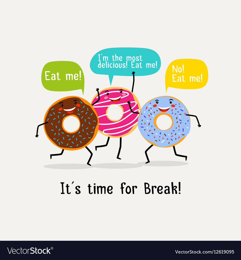 Eat sweet tasty donut poster Cute colorful glazing