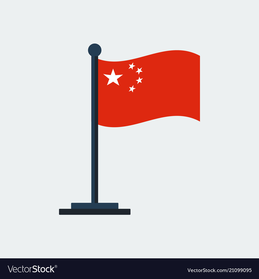 Flag of chinaflag stand vector image