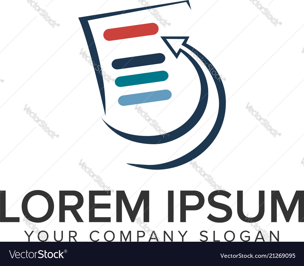 List document logo design concept template fully vector