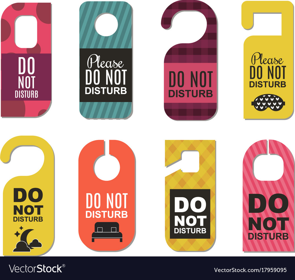 sc 1 st  VectorStock & Please do not disturb hotel door quiet motel Vector Image