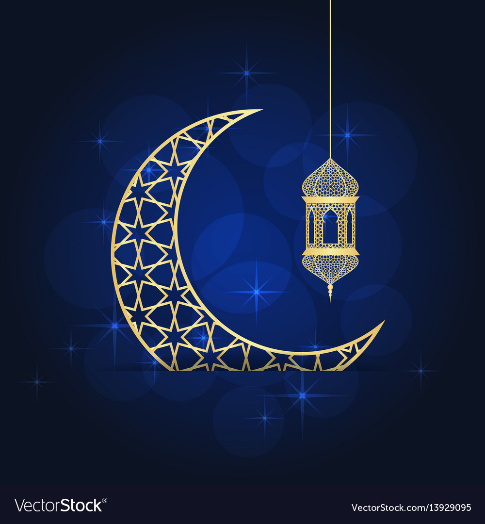 ramadan greeting card royalty free vector image