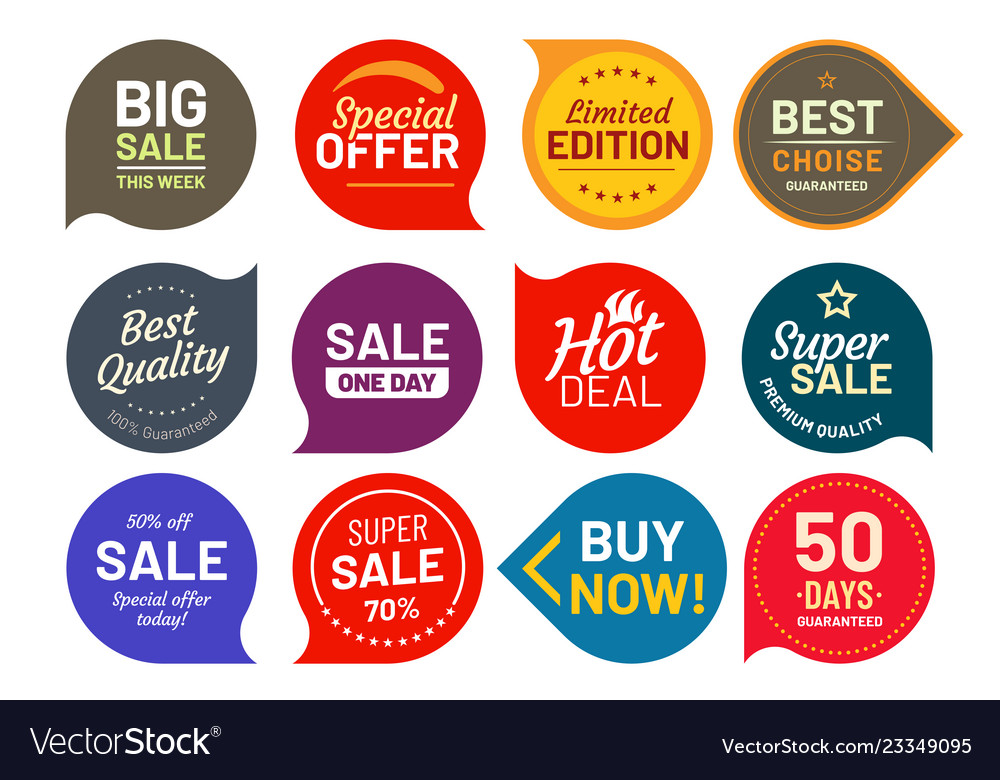 Sale quality badges round hundred percent assured