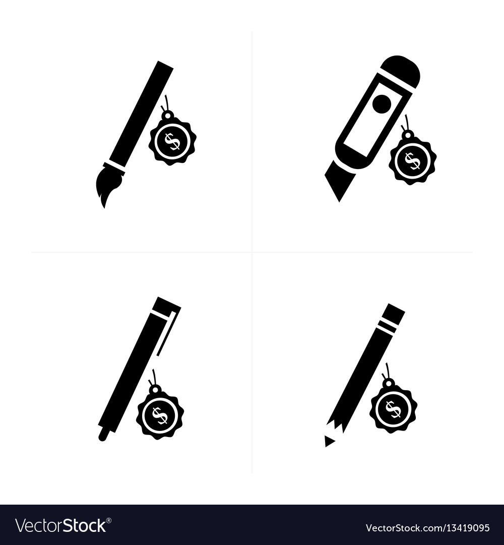 Sale stationery icons vector image