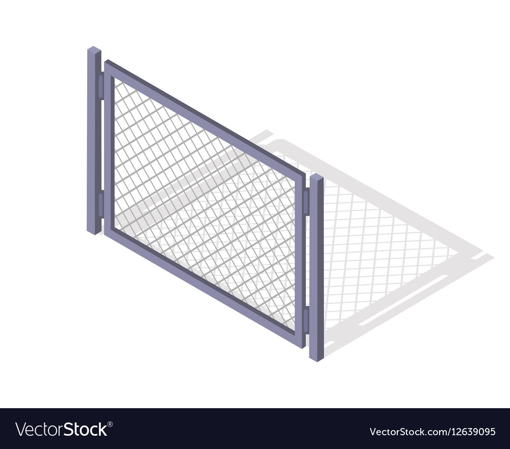 Steel Fence Section In Isometric Projection vector image