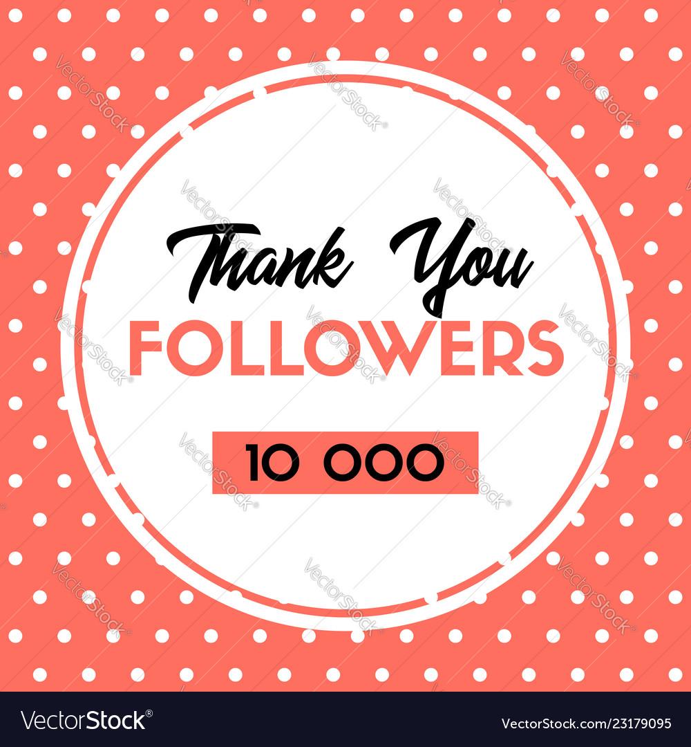 Thank you 10000 followers card for social media