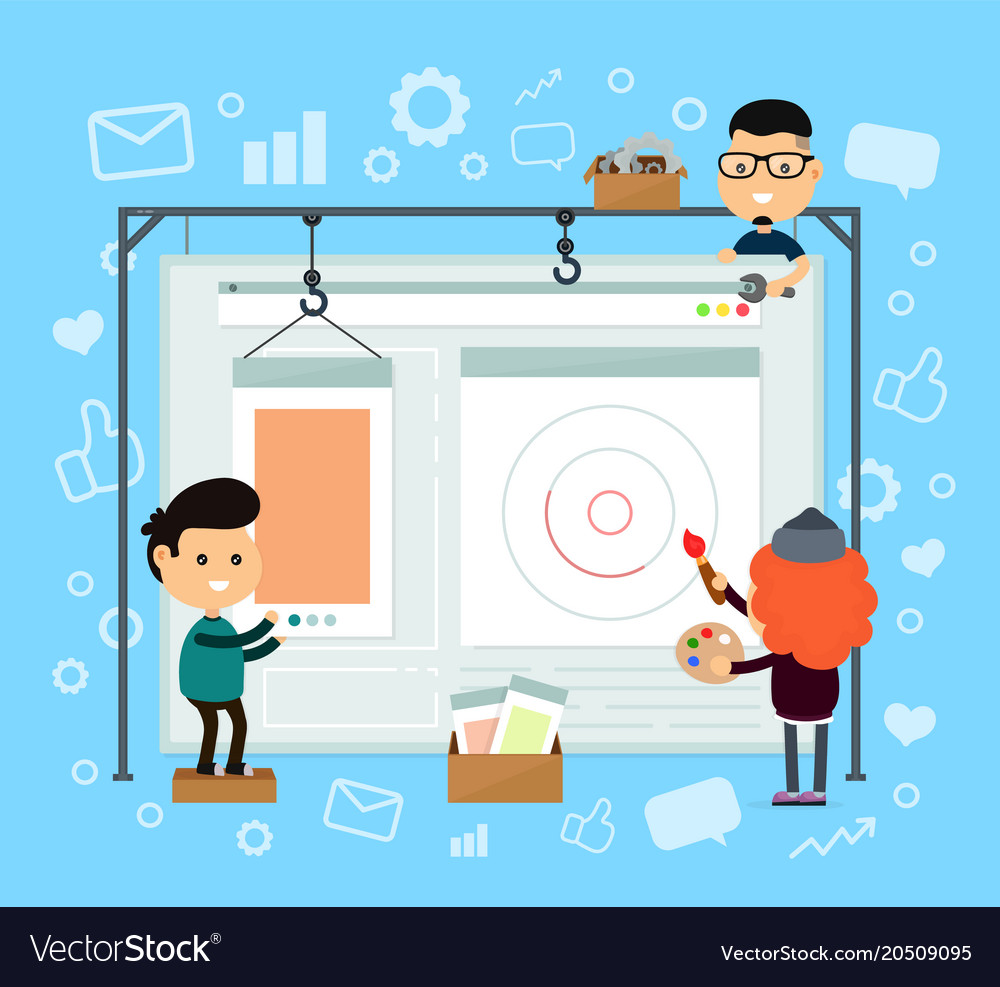 Web design and development web site vector image