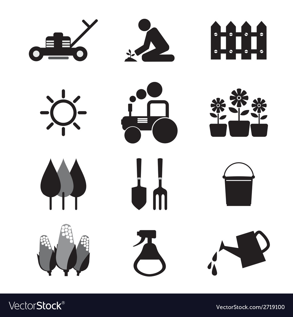 Agricultural Equipment Icons